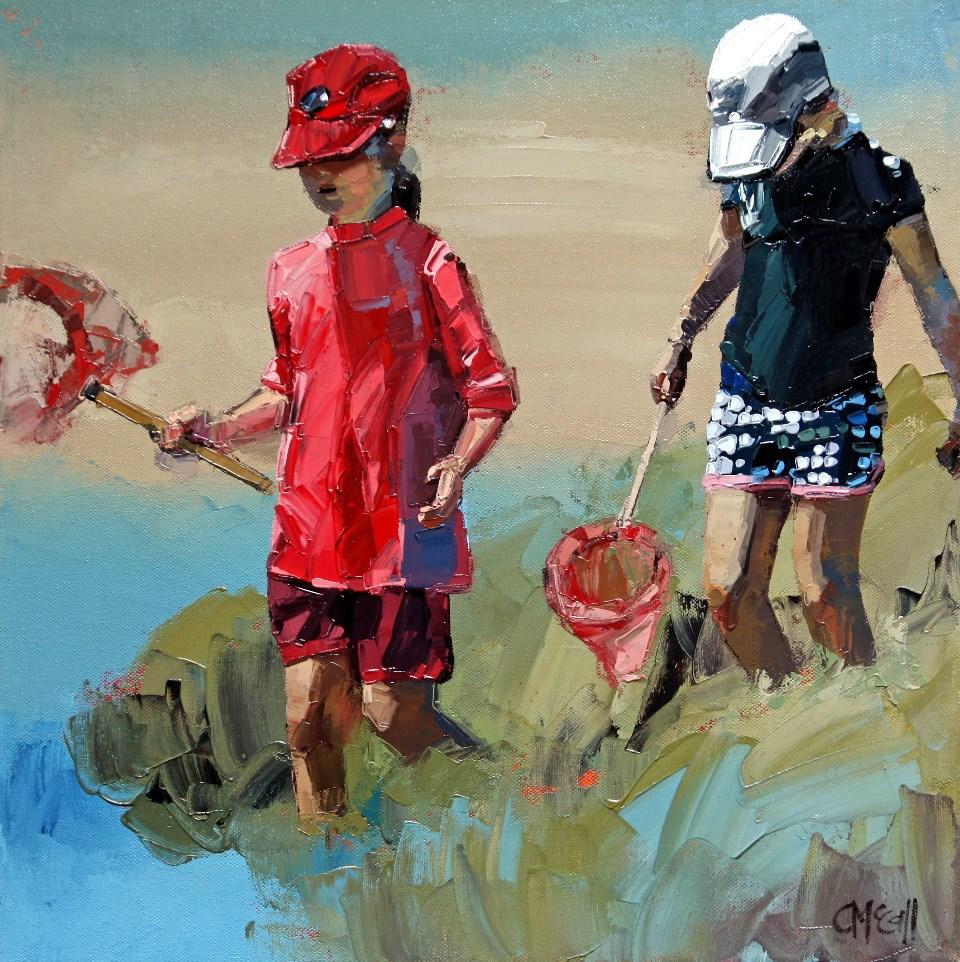 """""""Treasure Hunt IV"""" original fine art by Claire McCall"""