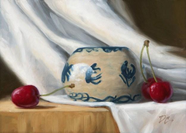 """Cheryl's Pottery #2"" original fine art by David Capalungan"