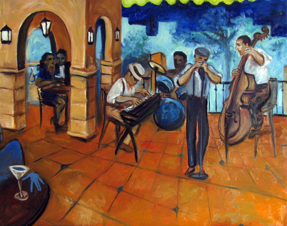 """Stan Street at Cafe Tu Tu Tango"" original fine art by Valerie Vescovi"