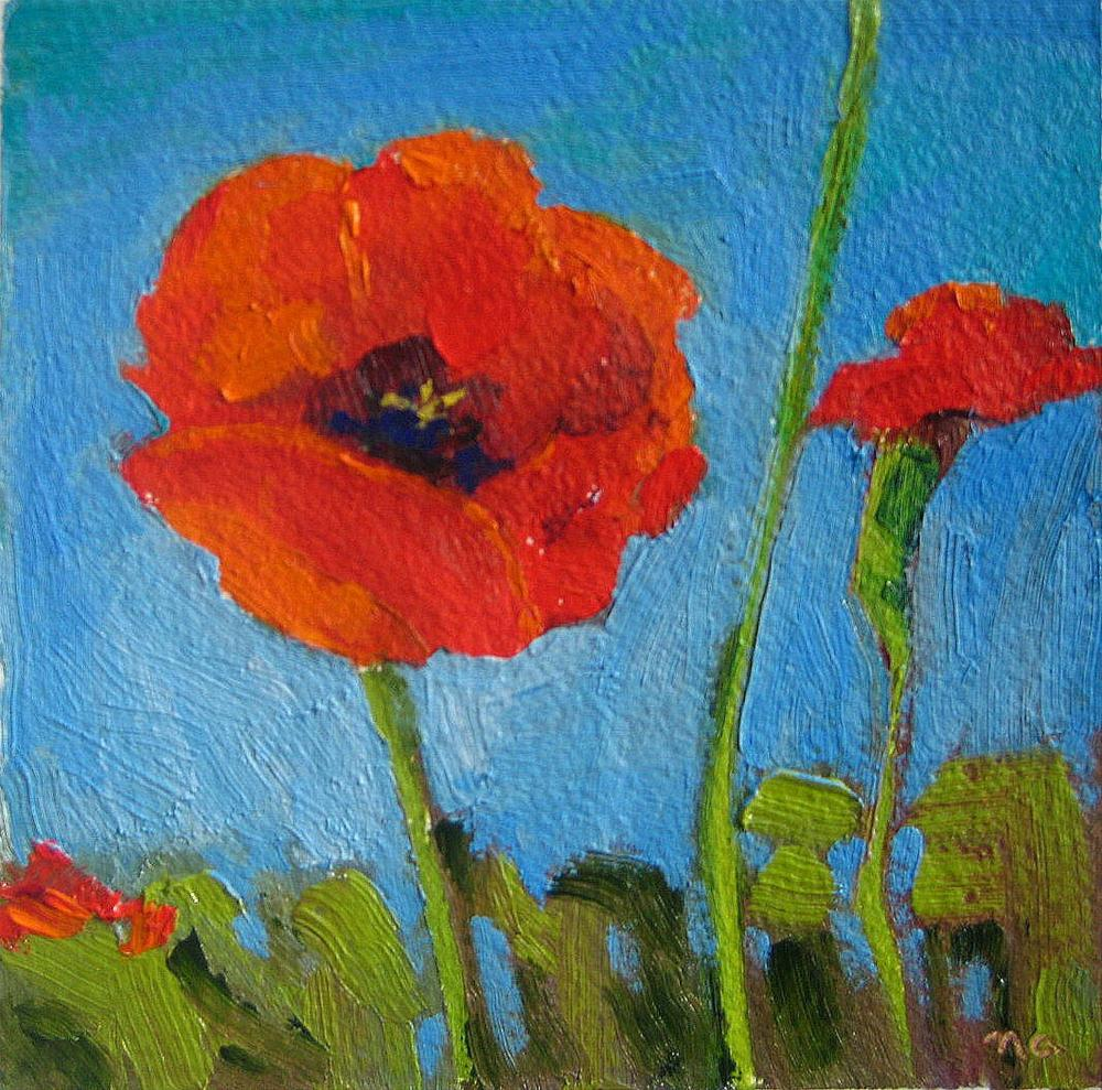 """Tangerine Trio"" original fine art by Nicki Ault"