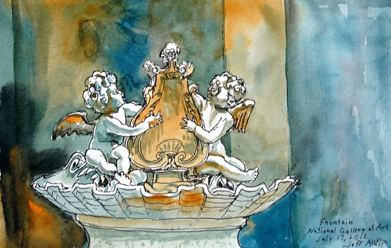 """Cherubs, National Gallery of Art"" original fine art by Jeff Atnip"