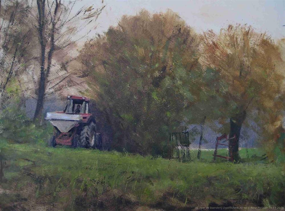 """Getting back to the Farm."" original fine art by René PleinAir"