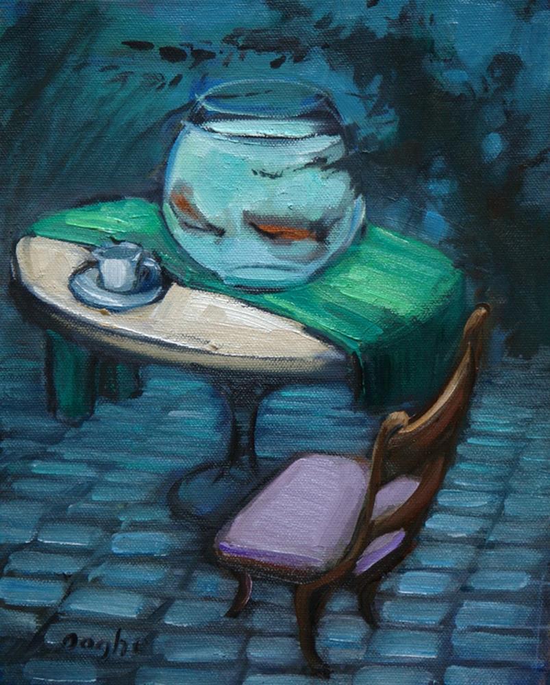 """Fish Bowl"" original fine art by Angela Ooghe"