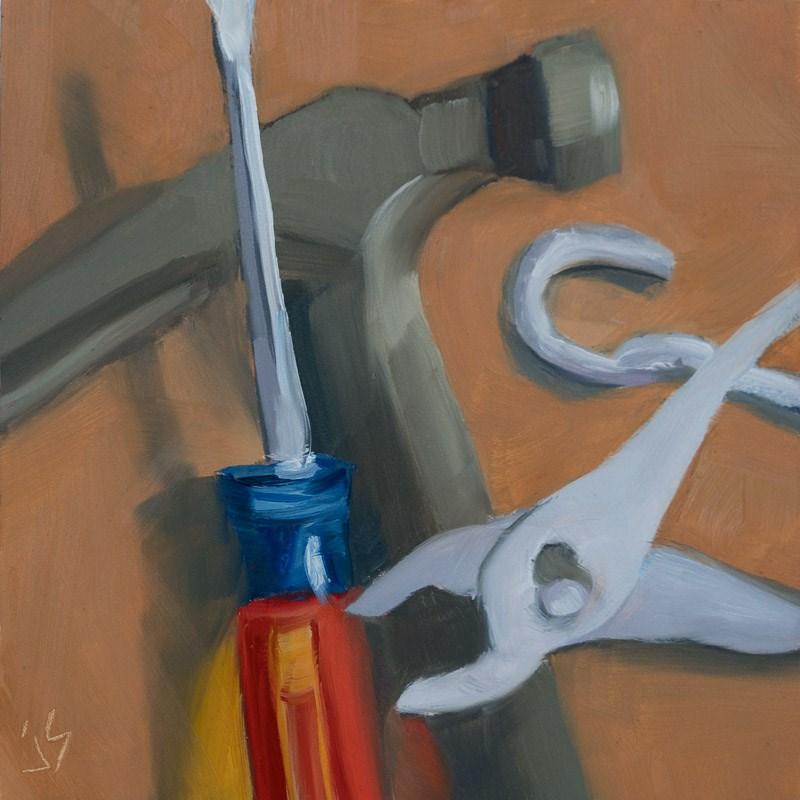 """""""Man Toys"""" original fine art by Johnna Schelling"""