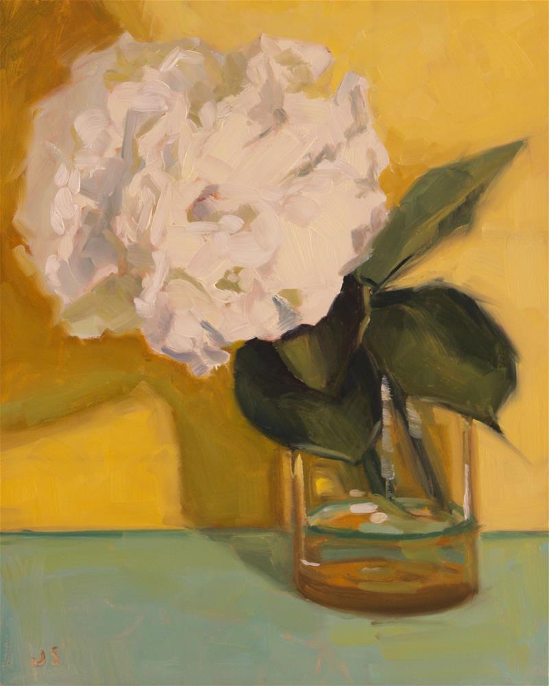 """Yellow Hydrangeas"" original fine art by Jamie Stevens"