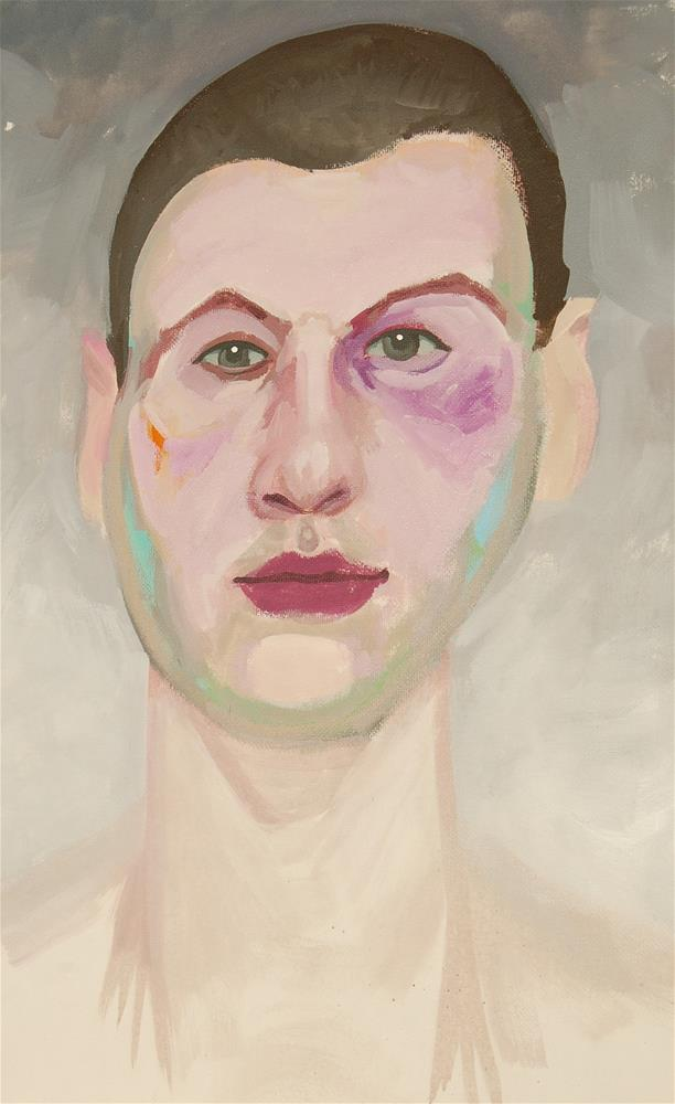 """the warrior"" original fine art by michael vigneux"