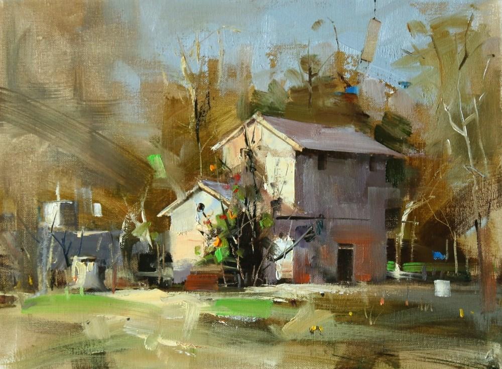 """Dies Ranch"" original fine art by Qiang Huang"