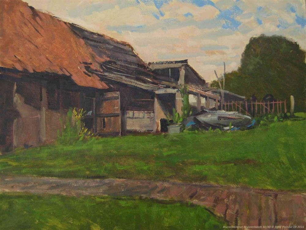 """Farmers clutter. Bruisterbosch, The Netherlands."" original fine art by René PleinAir"