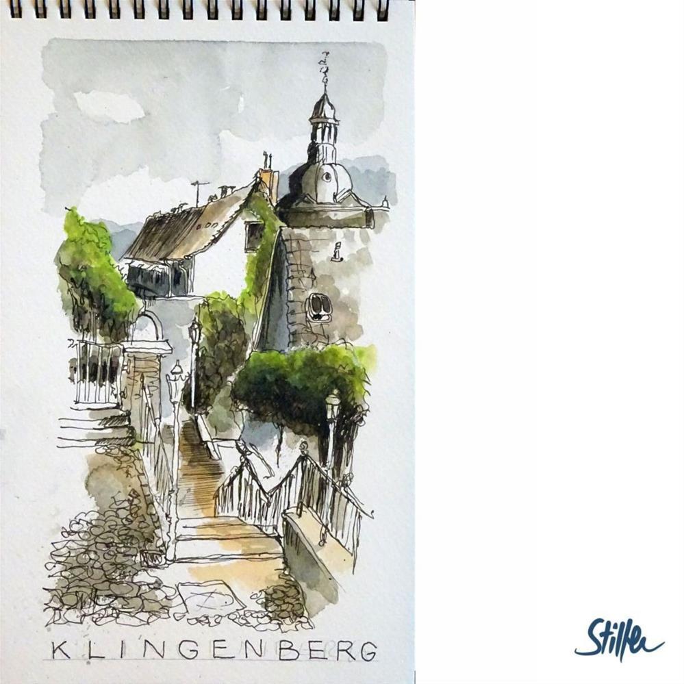 """""""3324 Klingenberg"""" original fine art by Dietmar Stiller"""