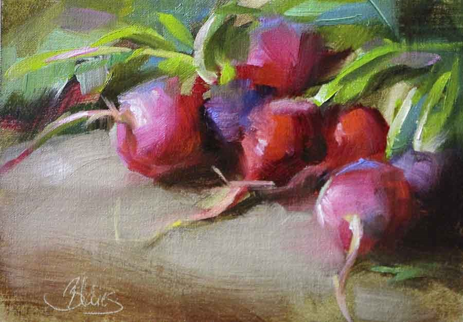 """Ravishing Radishes"" original fine art by Pamela Blaies"