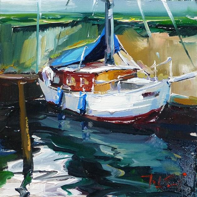 """""""Schöne Yacht"""" original fine art by Jurij Frey"""