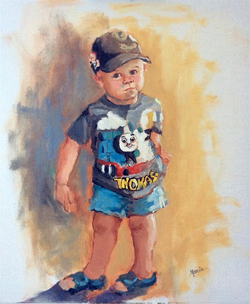 """Gilbert"" original fine art by Marcia Hodges"