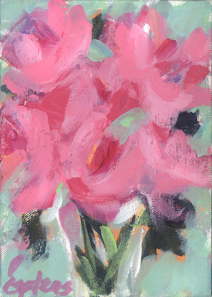 """Mini Peonies"" original fine art by Pamela Gatens"
