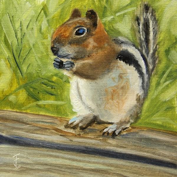 """Chippy"" original fine art by Jane Frederick"