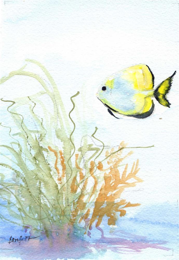 """""""Fish"""" original fine art by Bunny Griffeth"""