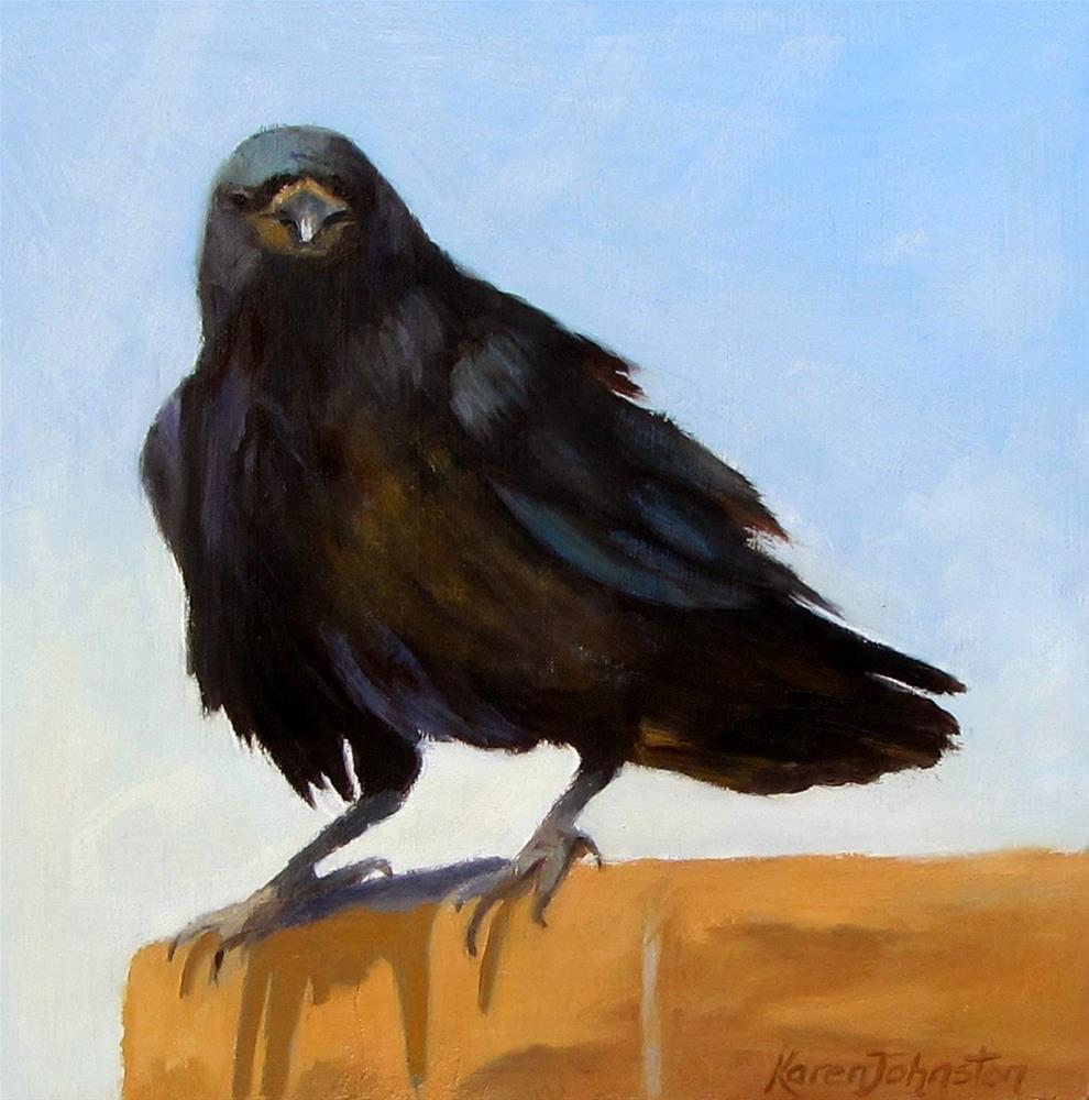 """""""Raven"""" original fine art by Karen Johnston"""