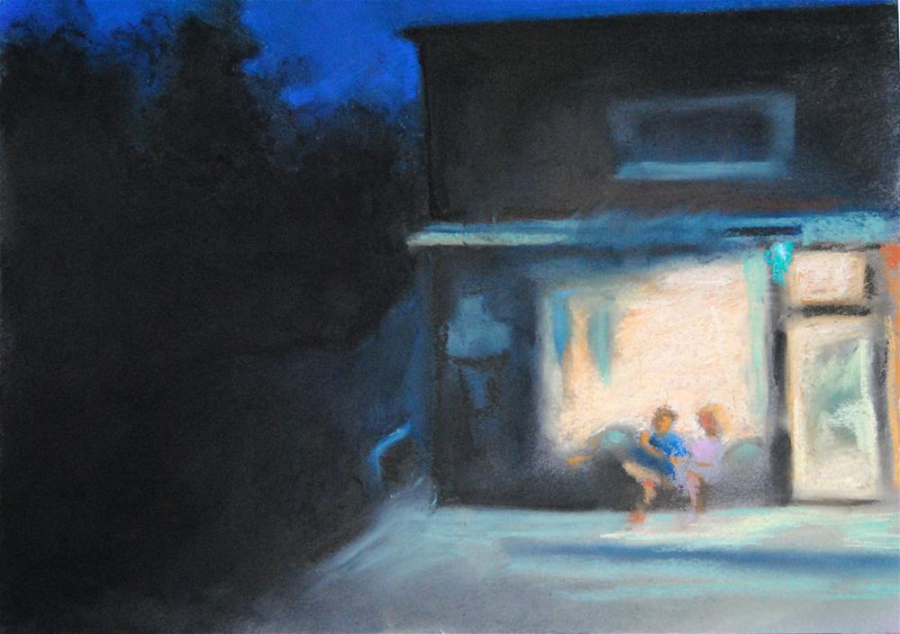 """Late Night Ice Cream Stop"" original fine art by Lori Jacobs - Farist"