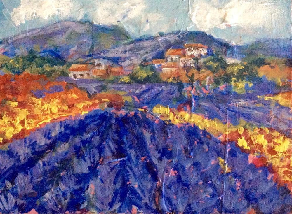 """""""Provence,Provence"""" original fine art by Sonia von Walter"""