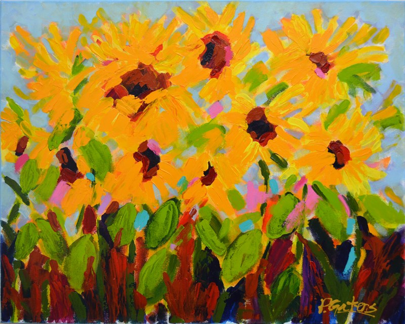 """Fields of Gold"" original fine art by Pamela Gatens"