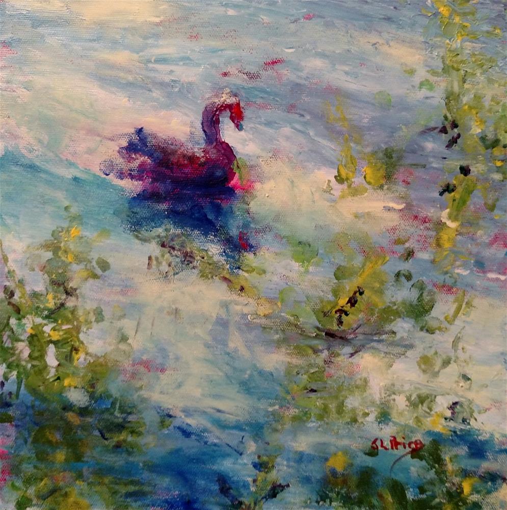 """The Swan Queen (SOLD)"" original fine art by S. Lynne Price"
