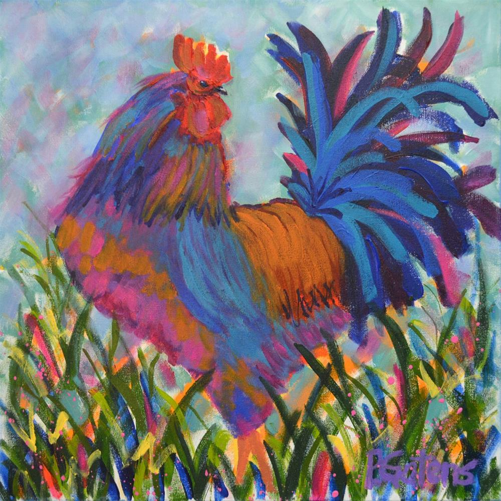 """Big Blue"" original fine art by Pamela Gatens"