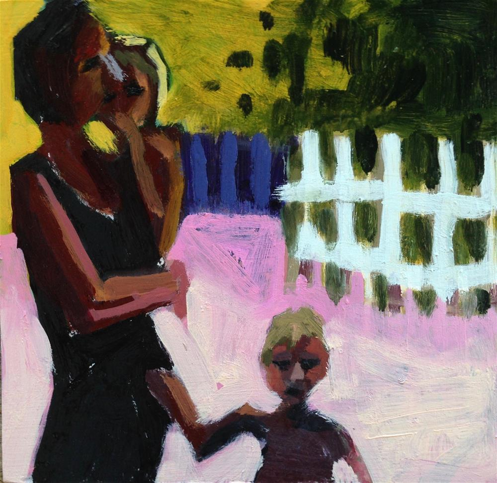 """Momma Needs Three Arms (at least)"" original fine art by Pamela Hoffmeister"