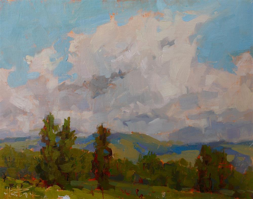 """Vintner View"" original fine art by Melanie Thompson"