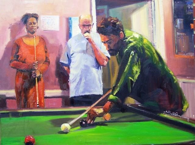 """Pensive I"" original fine art by Adebanji Alade"
