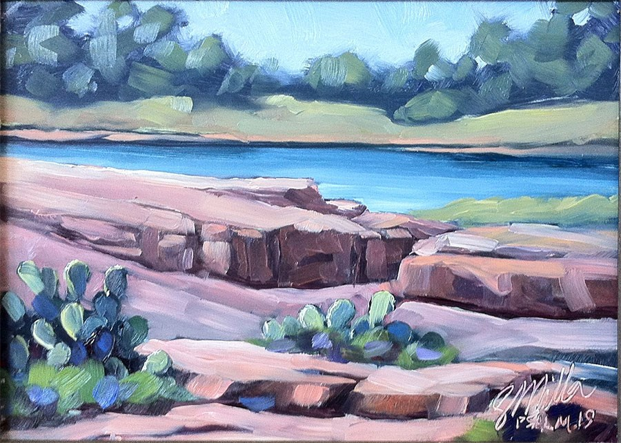 """Across the River"" original fine art by Steve Miller"