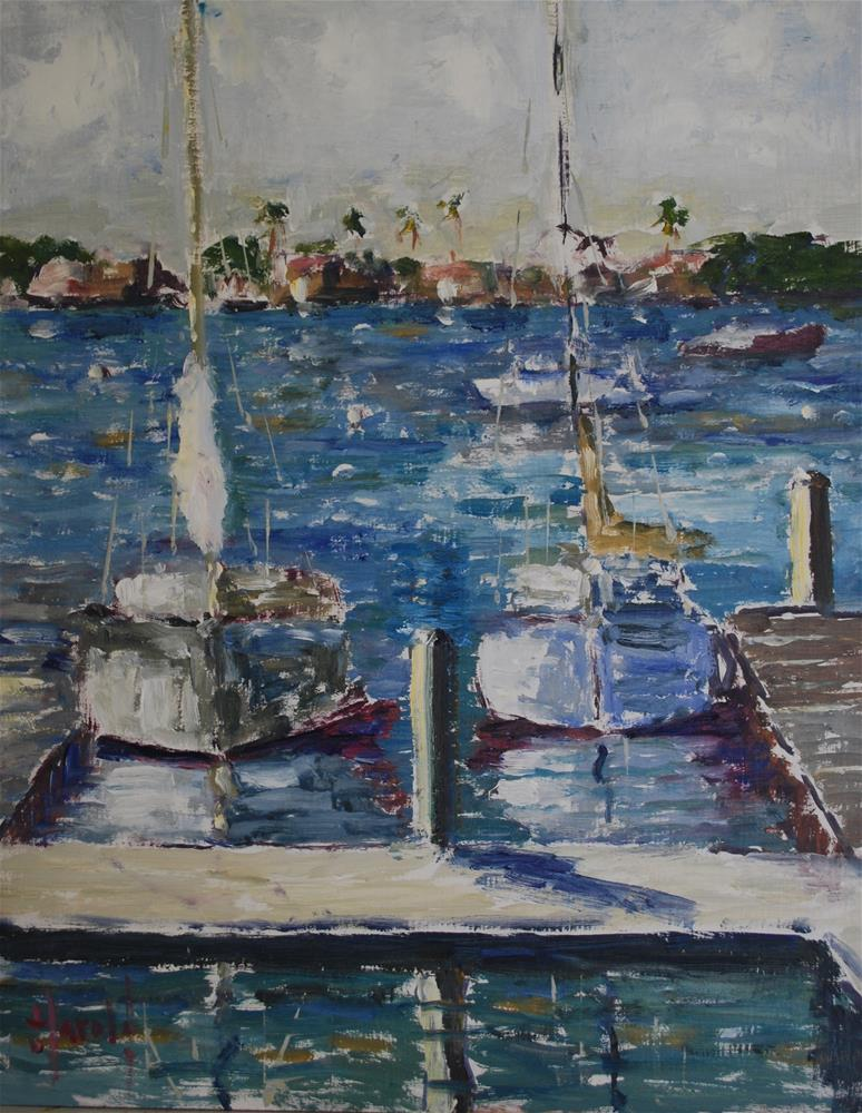 """Balboa Abstract 3"" original fine art by Deborah Harold"