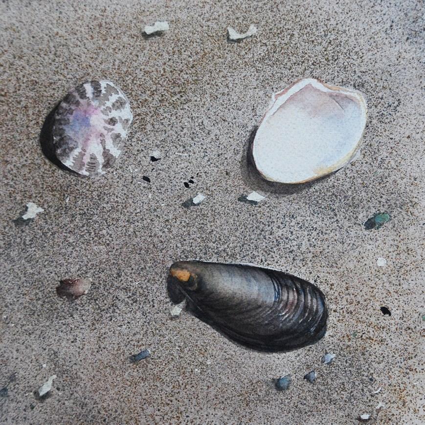 """""""Beach Scene"""" original fine art by Mary Anderson"""