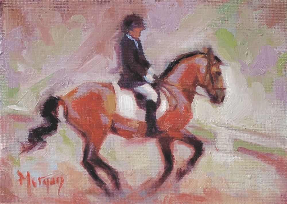"""Dressage"" original fine art by Cecile W. Morgan"