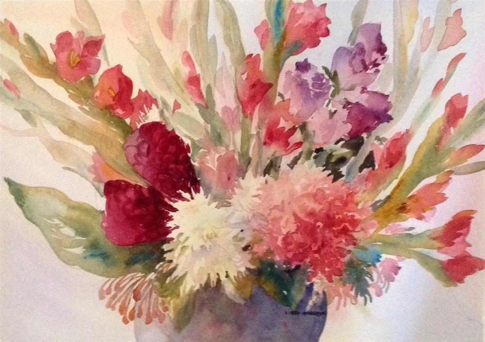 """""""Ginger and Glads"""" original fine art by Libby Anderson"""