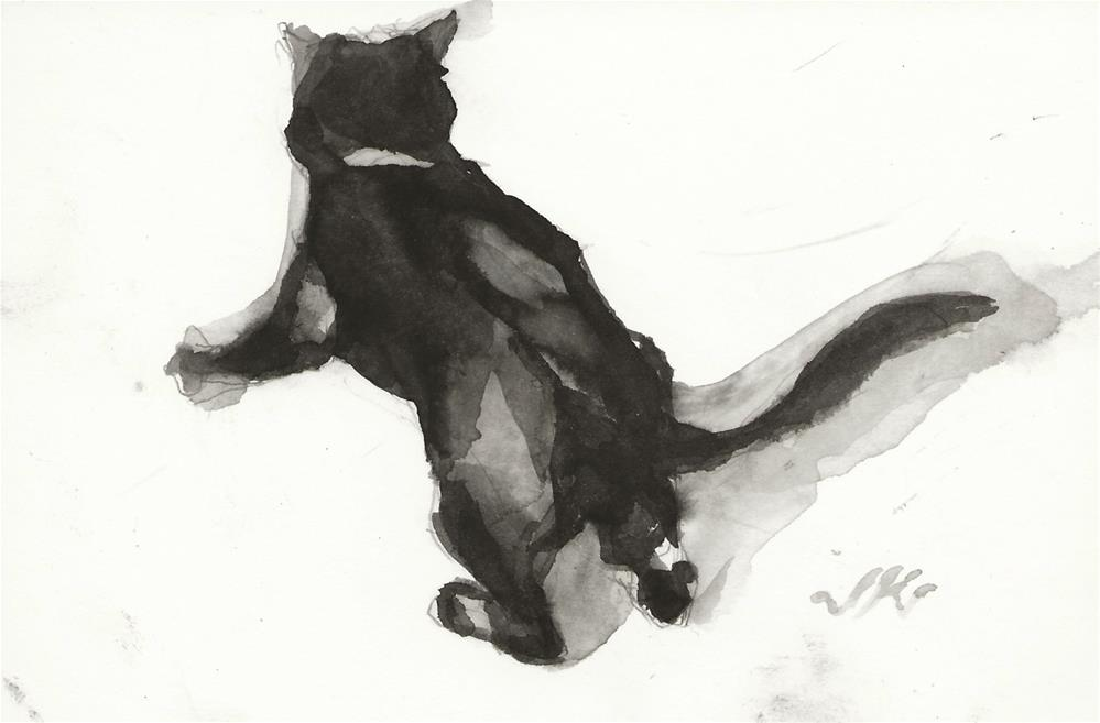 """Daily Cat 149"" original fine art by Jean Krueger"