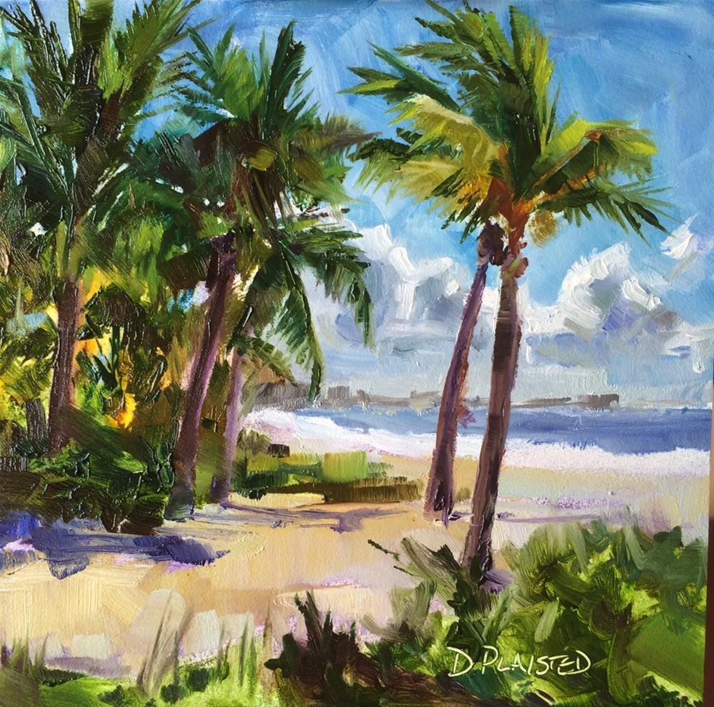 """""""Fort Myers Palms"""" original fine art by Diane Plaisted"""