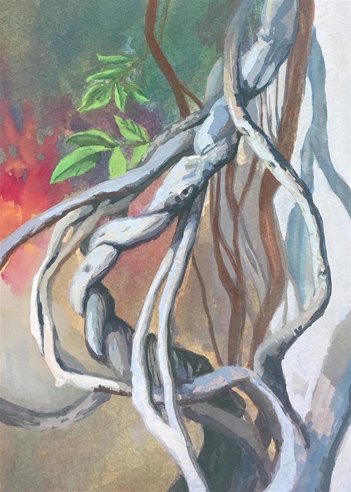 """Twining Wisteria"" original fine art by Robyn Jorde"