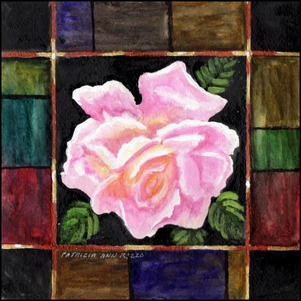 """Just My Garden Rose"" original fine art by Patricia Ann Rizzo"