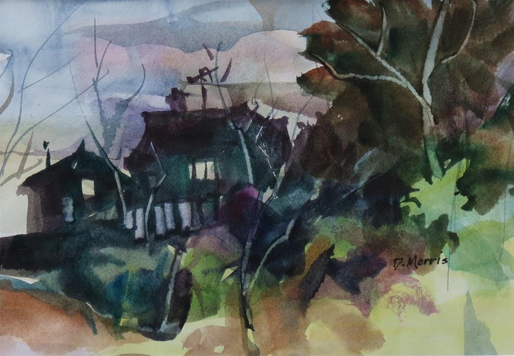 """Home Fires"" original fine art by Dann Morris"