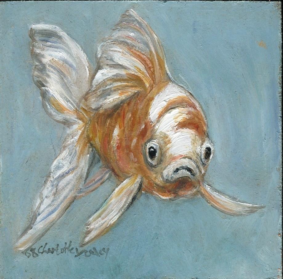 """Goldfish"" original fine art by Charlotte Yealey"