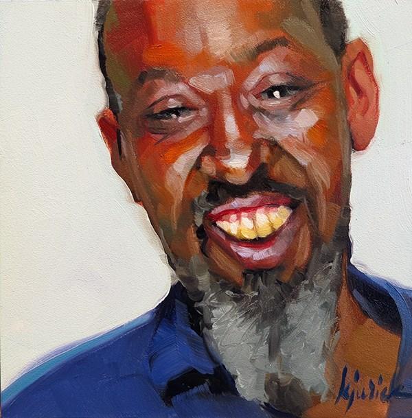 """200 Faces, No. 121"" original fine art by Karin Jurick"
