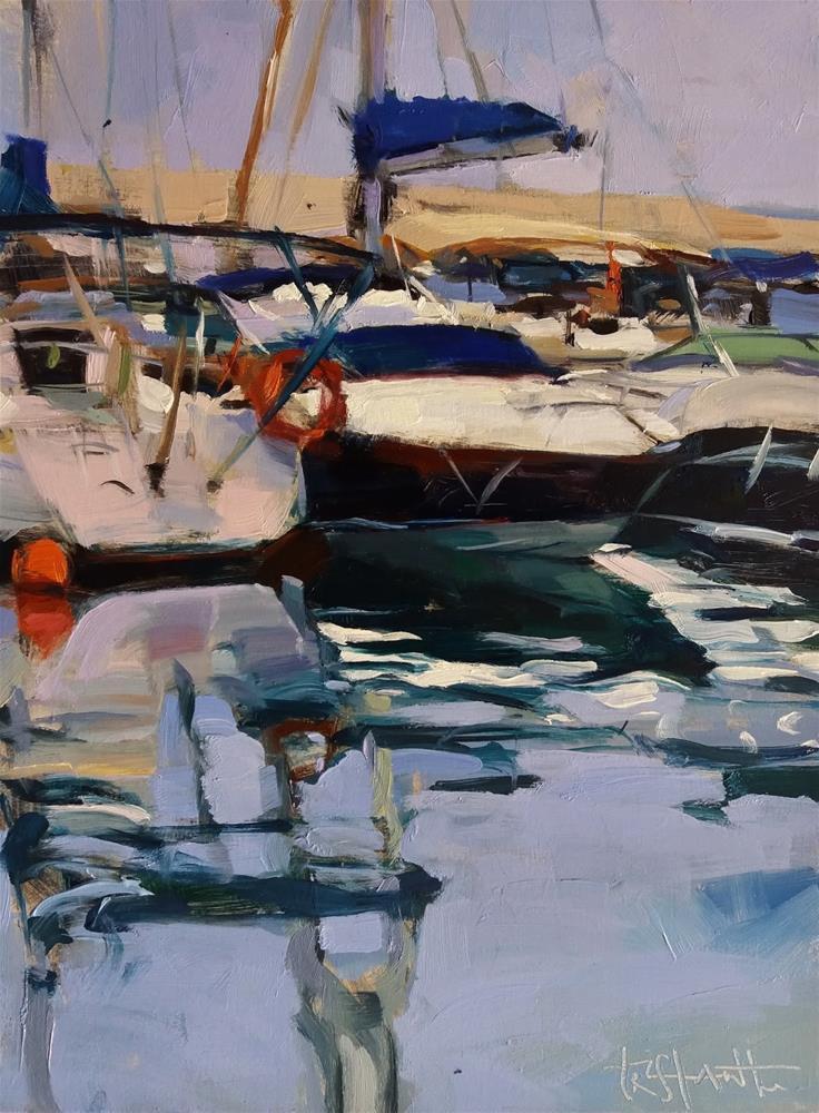 """""""Ships reflects"""" original fine art by Víctor Tristante"""