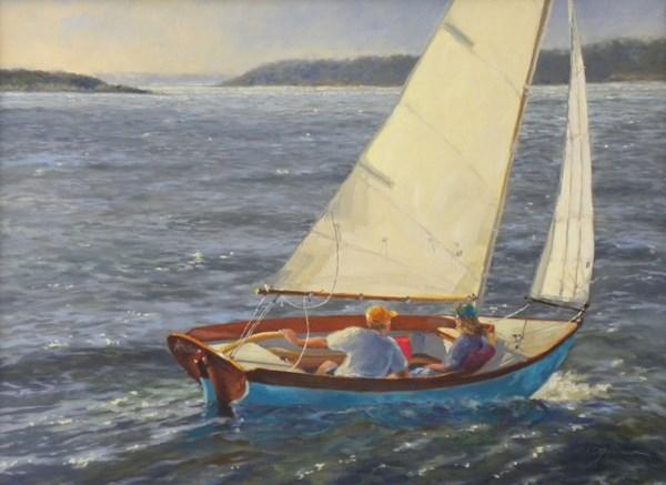 """Off Port Clyde Again"" original fine art by Diane Mannion"