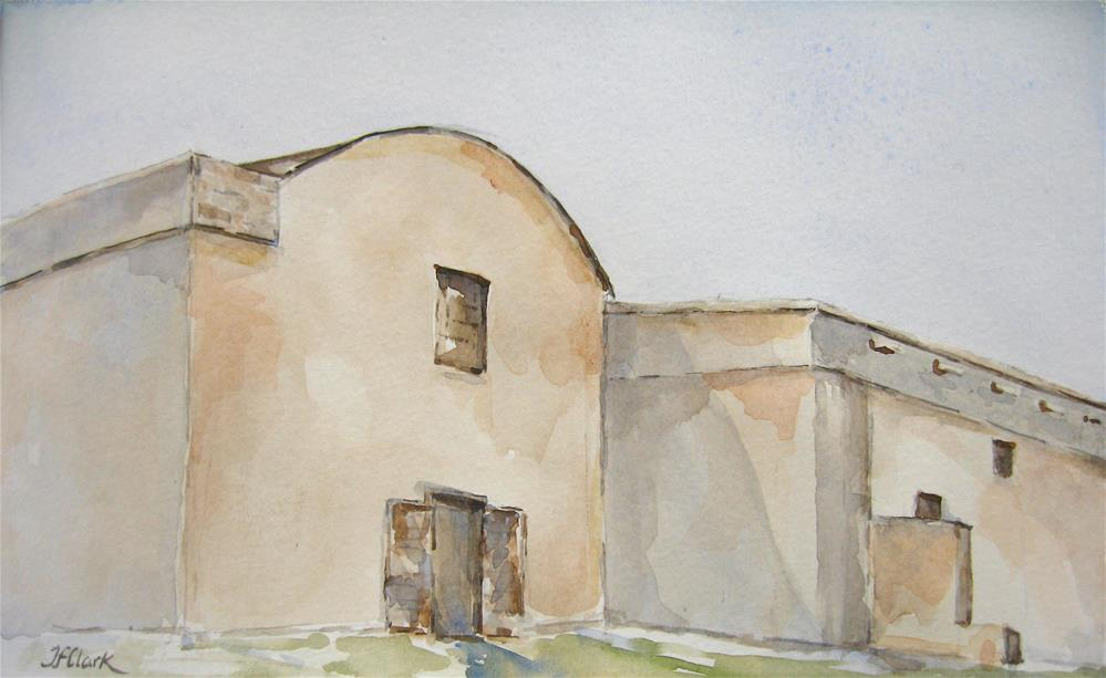 """Hot Afternoon at the Alamo"" original fine art by Judith Freeman Clark"