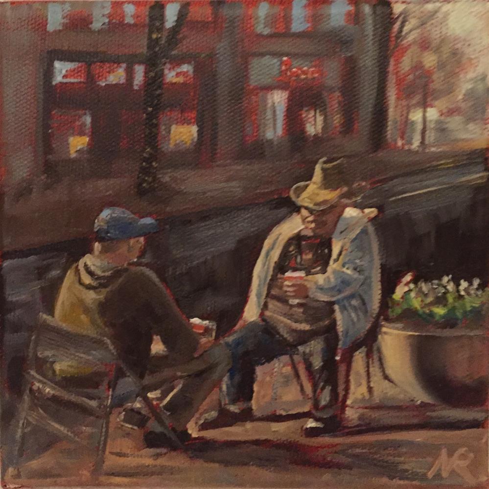 """Conversation"" original fine art by Natasha Ramras"