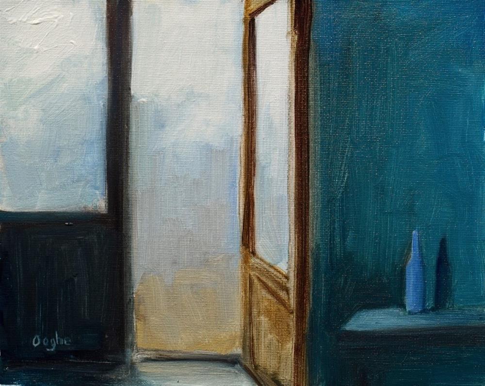 """Blue Bottle"" original fine art by Angela Ooghe"