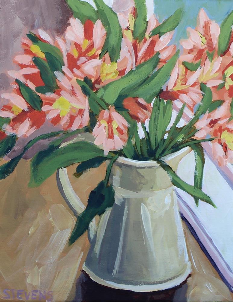 """""""Kitchen Window Bouquet"""" original fine art by Jamie Stevens"""