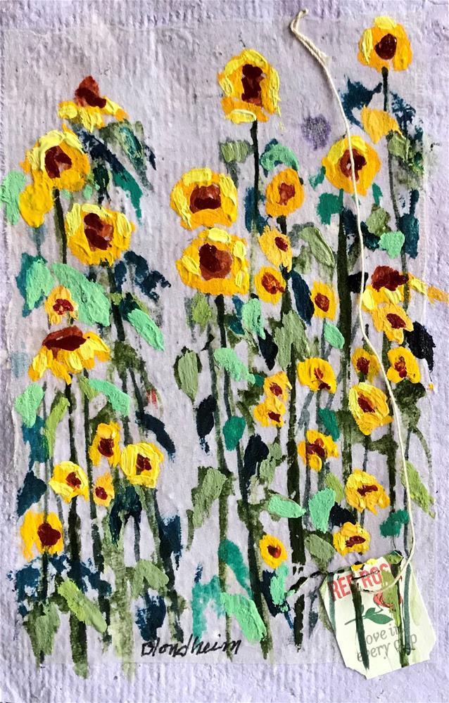 """""""Sunflower Field"""" original fine art by Linda Blondheim"""