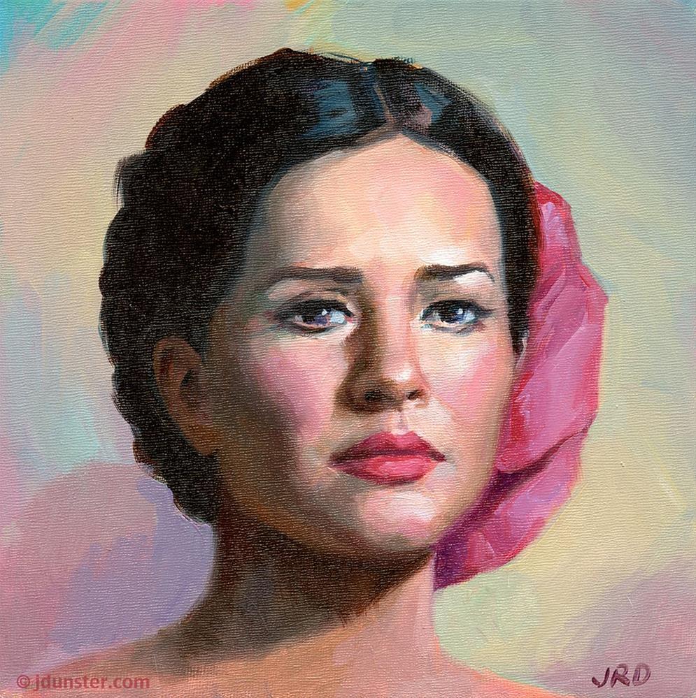 """""""Señorita [Studio Clearance Sale]"""" original fine art by J. Dunster"""