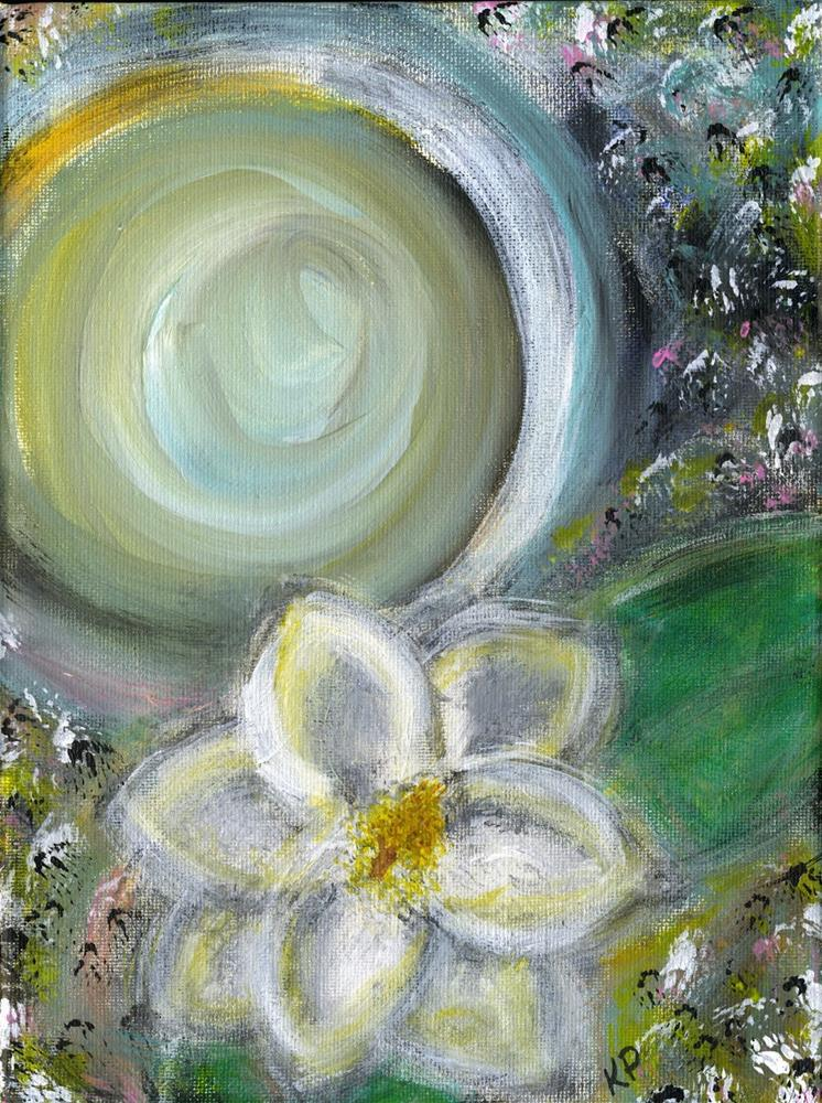 """""""La Luna y Magnolia"""" original fine art by Kali Parsons"""