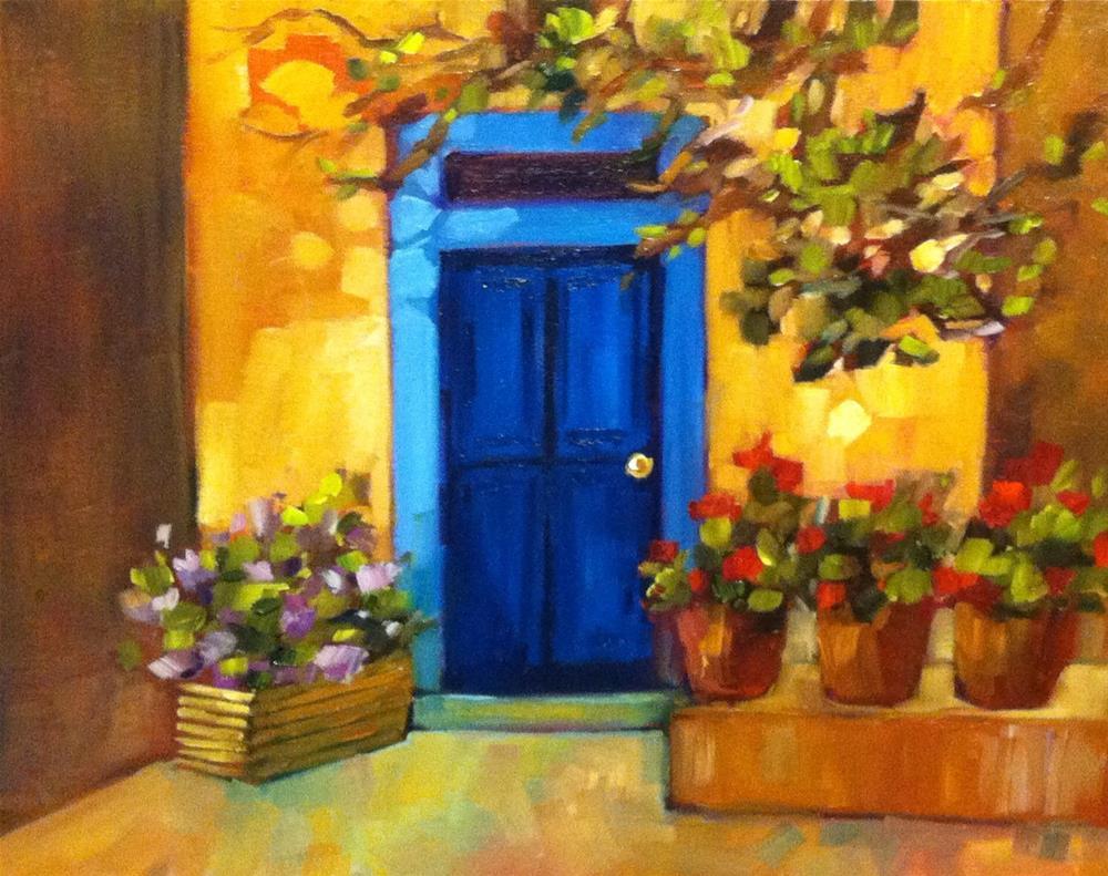 """Tuscan Neighbor"" original fine art by Libby Anderson"